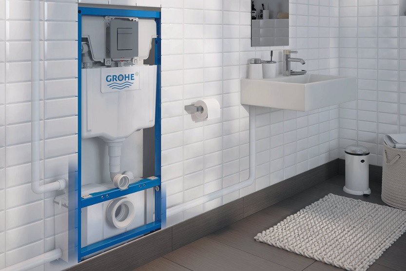 Broyeur Wc Suspendu Watermatic Et Bati Support Grohe serapportantà Toilette Suspendu Grohe