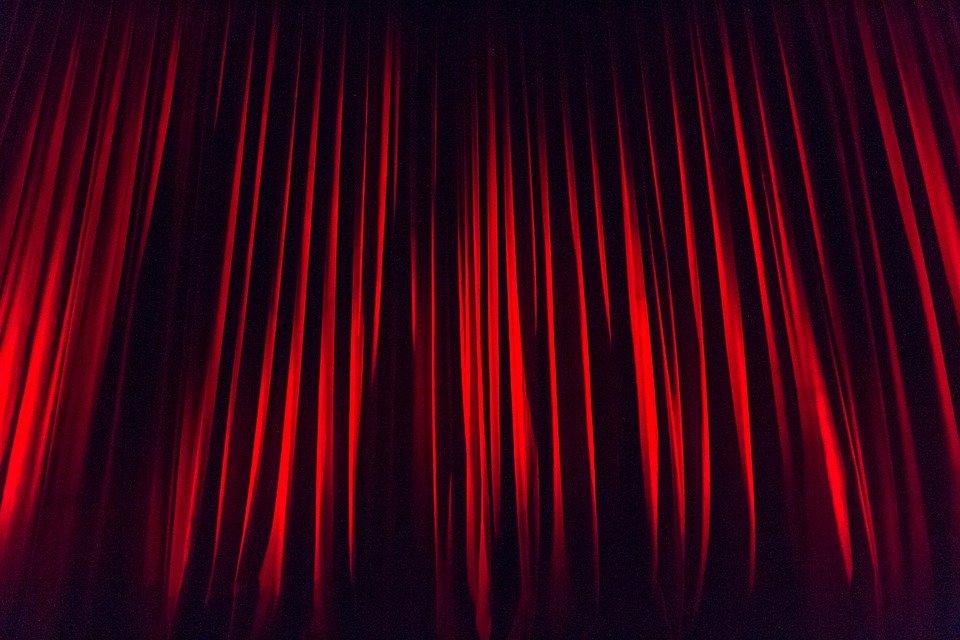 Bühnenvorhang Vorhang Bühne · Kostenloses Foto Auf Pixabay dedans Rideau De Scène Noir