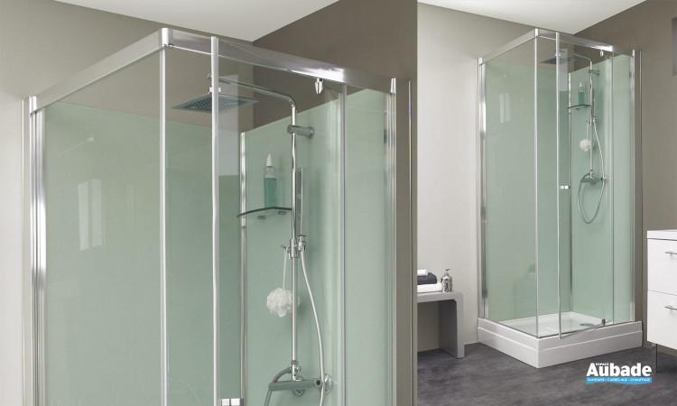 cabine de douche intégrale verre kinedo eden  espace