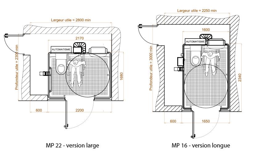 Cabines Sanitaires Pmr Mp22 / Wc concernant Toilette Pmr