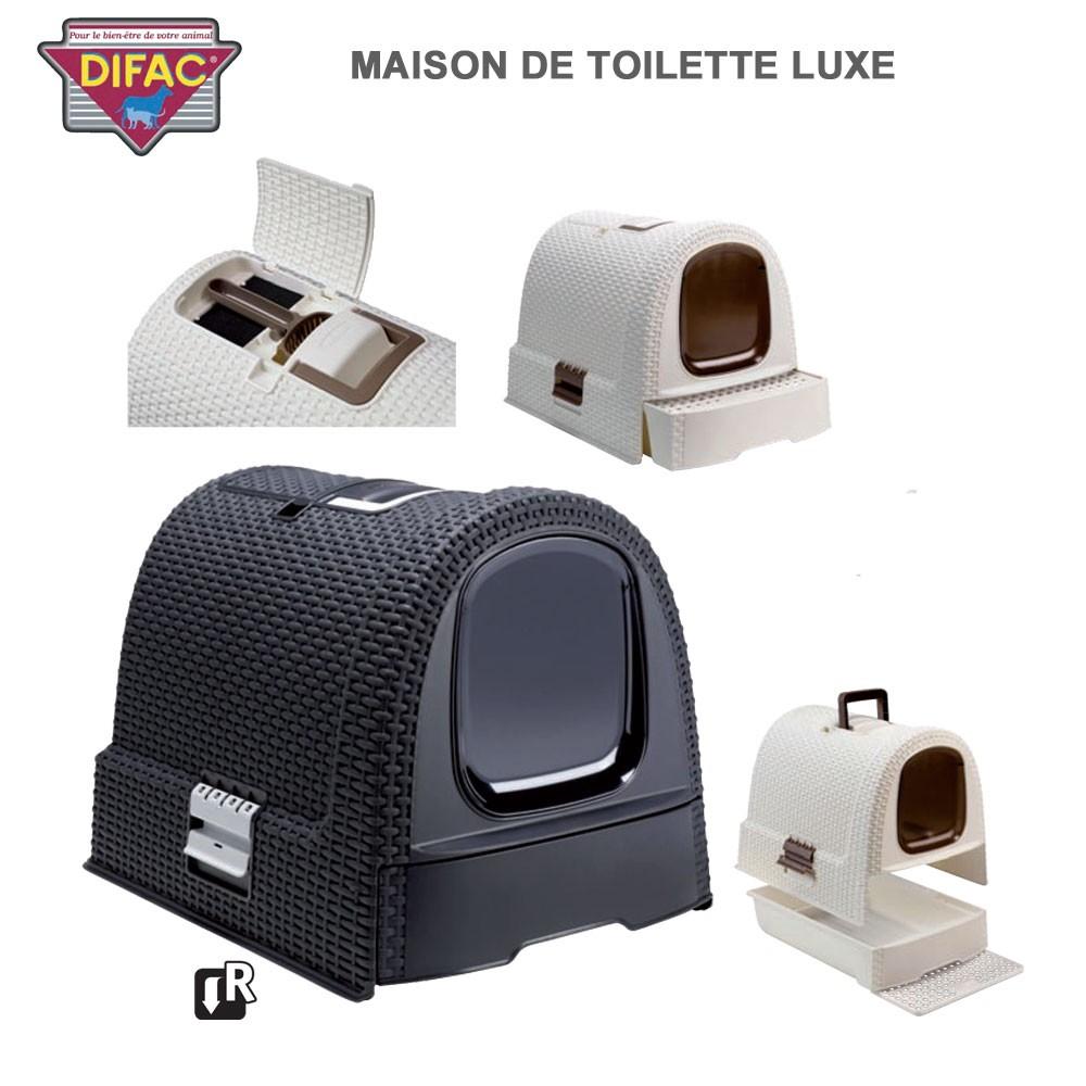 Caisse Litière Pour Chat Toilette De Luxe serapportantà Toilettes Pour Chat
