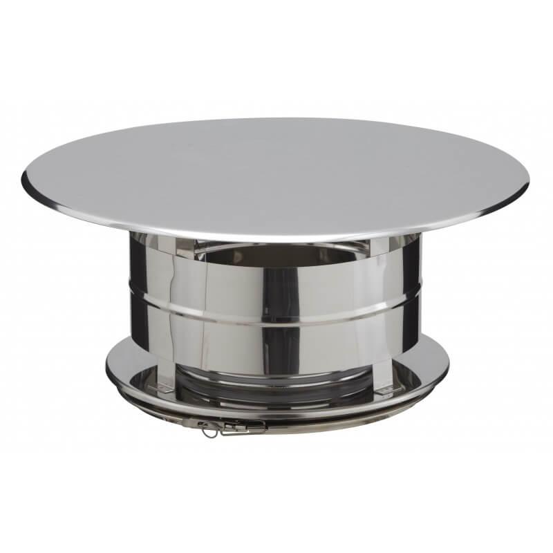Chapeau Aspirateur Simple Finition Inox Cai31200037 Poujoulat concernant Aspirateur Pour Cheminée