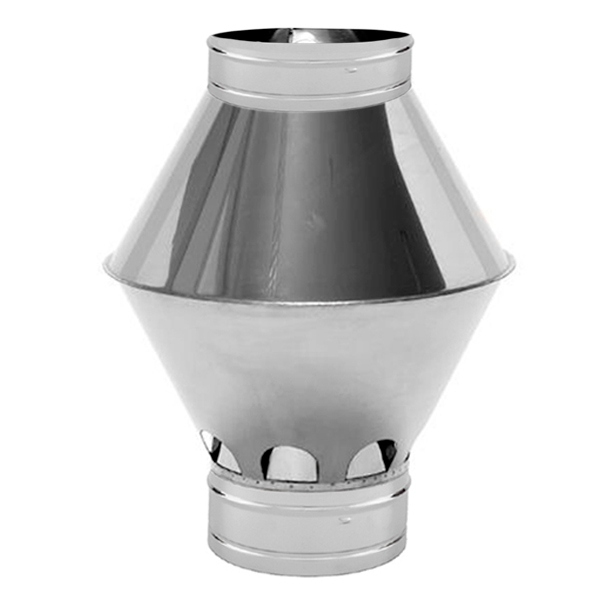Chapeau Cheminée Inox Venturi Diamètre 150 - Tracheminée destiné Chapeau Cheminée Inox