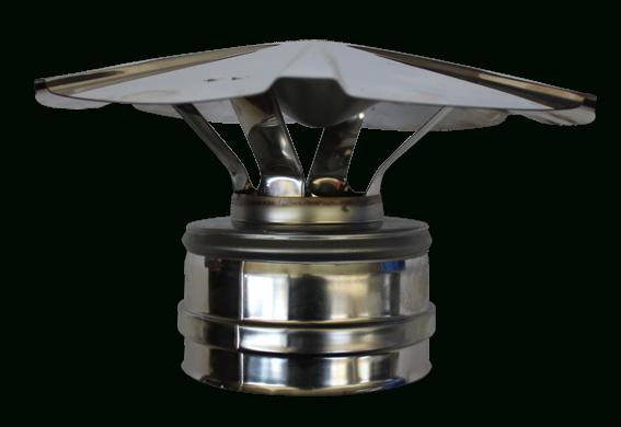Chapeau Chinois Double Paroi Inox - Diamètre Int/Ext: 180-230 destiné Chapeau Cheminée Inox