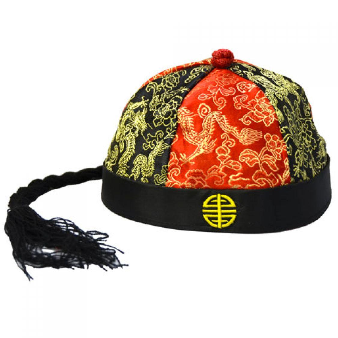 Chapeau Mandarin Tissu tout Chapeau Chinois Cheminée