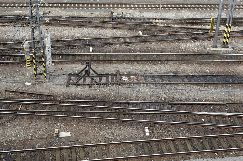Chemin De Fer Photo Stock. Image Du Down, Changer avec Carrefour 7 Chemins