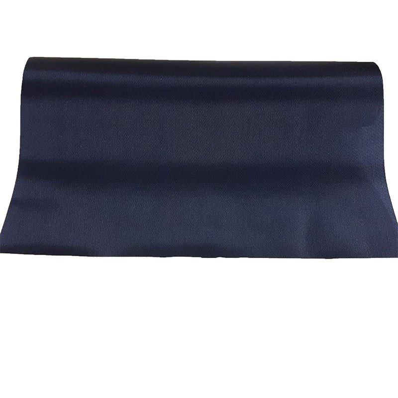Chemin De Table En Satin De Couleur Bleu Marine destiné Chemin De Table Bleu Clair