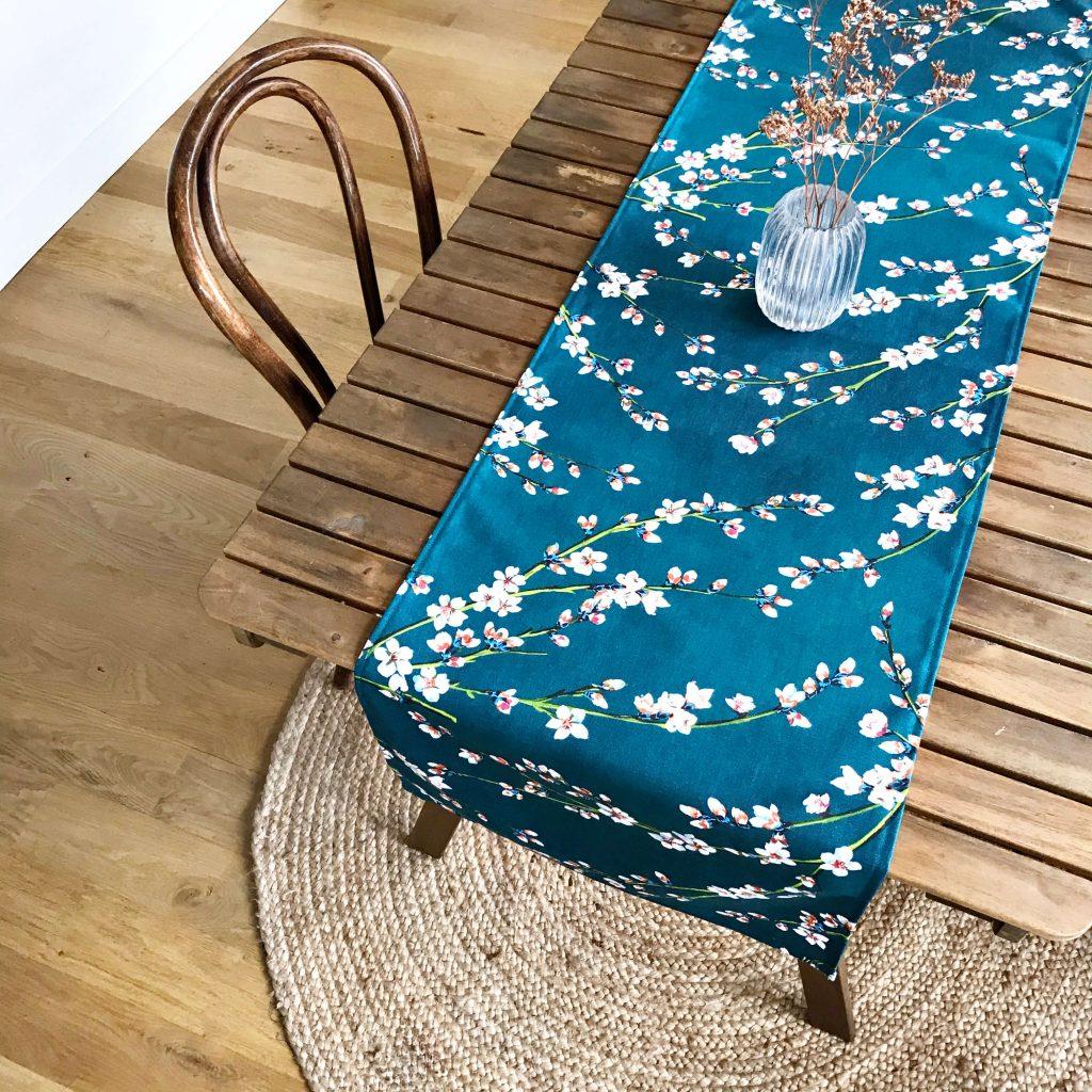 Chemin De Table Inflorescence - Romanbrance pour Chemin De Table Bleu Canard