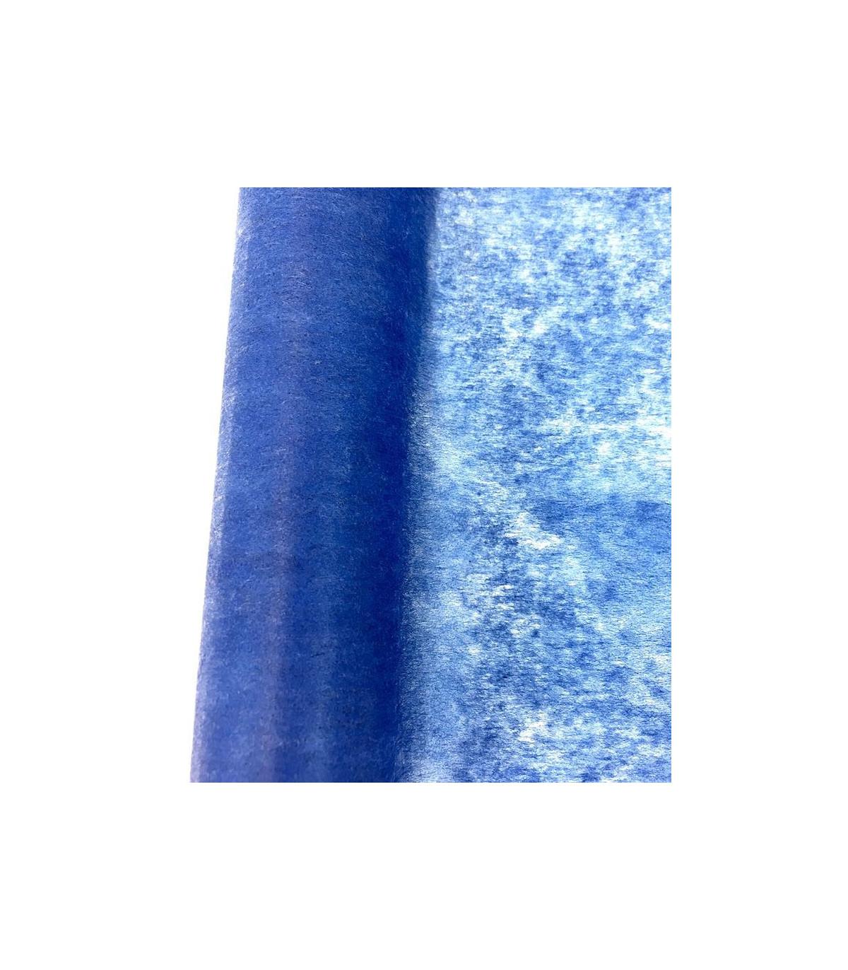 Chemin De Table Intissé Bleu Foncé Eco Couleur Bleu dedans Chemin De Table Bleu Clair