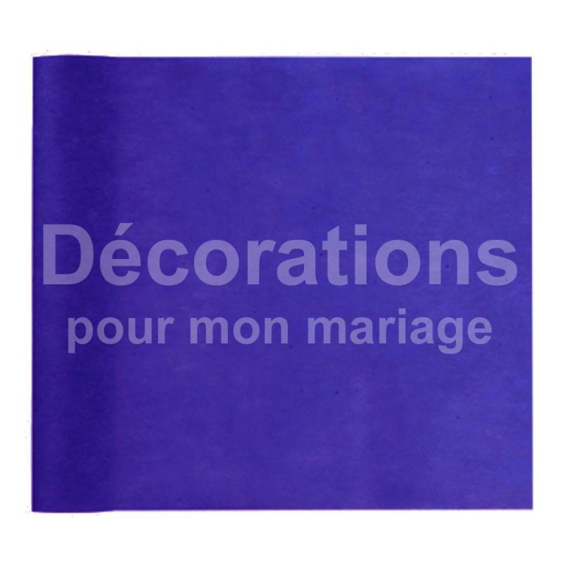 Chemin De Table Intissé Bleu Roi Pas Cher Pour Deco Table destiné Chemin De Table Bleu Canard