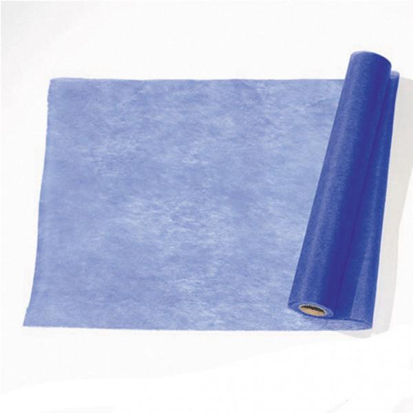 Chemin De Table Pas Cher Intisse Bleu Roi, Decoration concernant Chemin De Table Bleu Canard