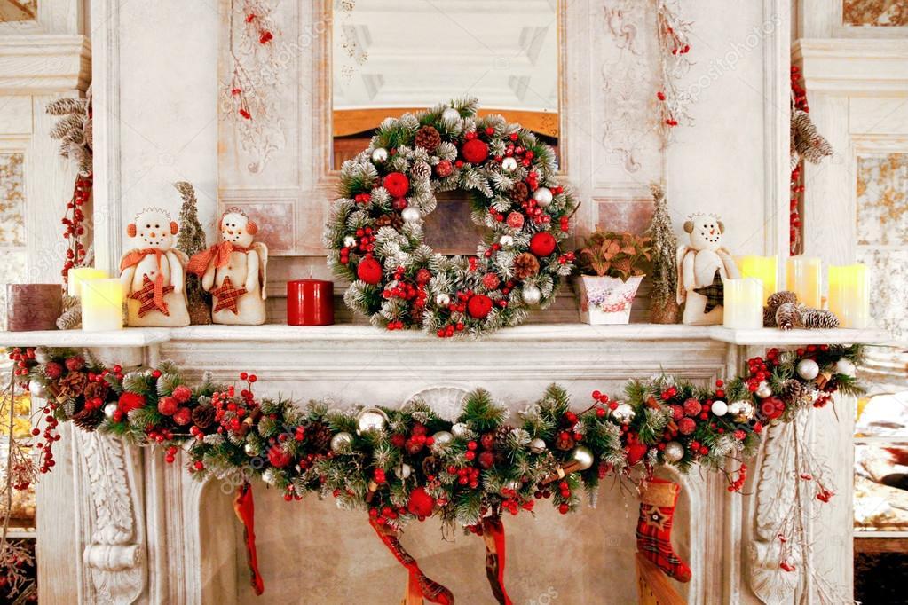Cheminée De Décoration De Noël — Photographie Ozina pour Cheminée De Noel