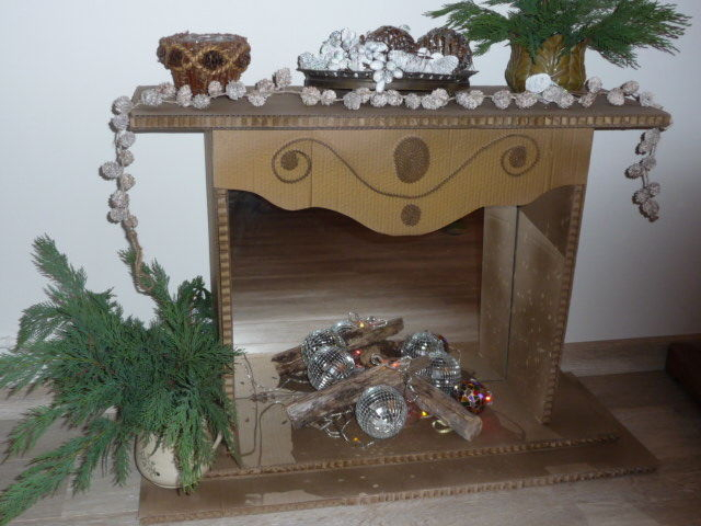 Cheminee De Noel - Art Textile, Broderie, Peinture à Cheminée De Noel