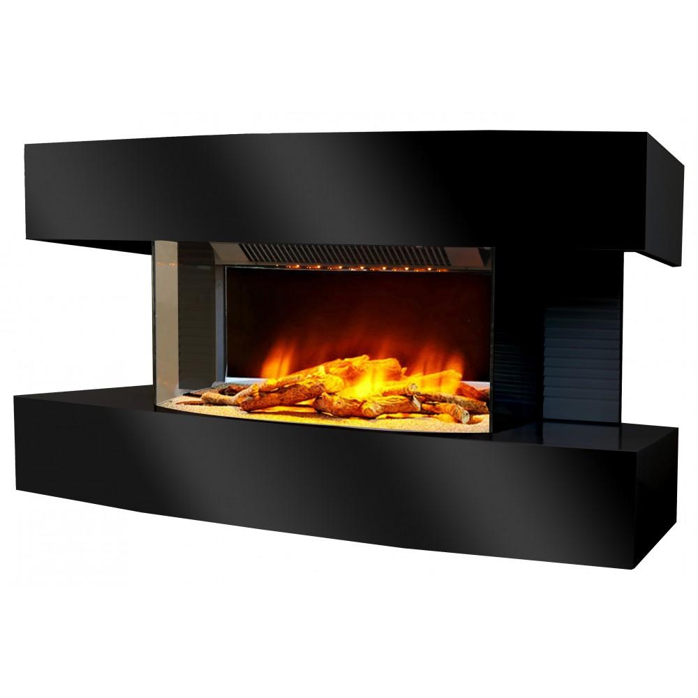 Cheminée Lounge Medium - Flamme 3D - Noire Ou Blanche encequiconcerne Cheminée Electrique But