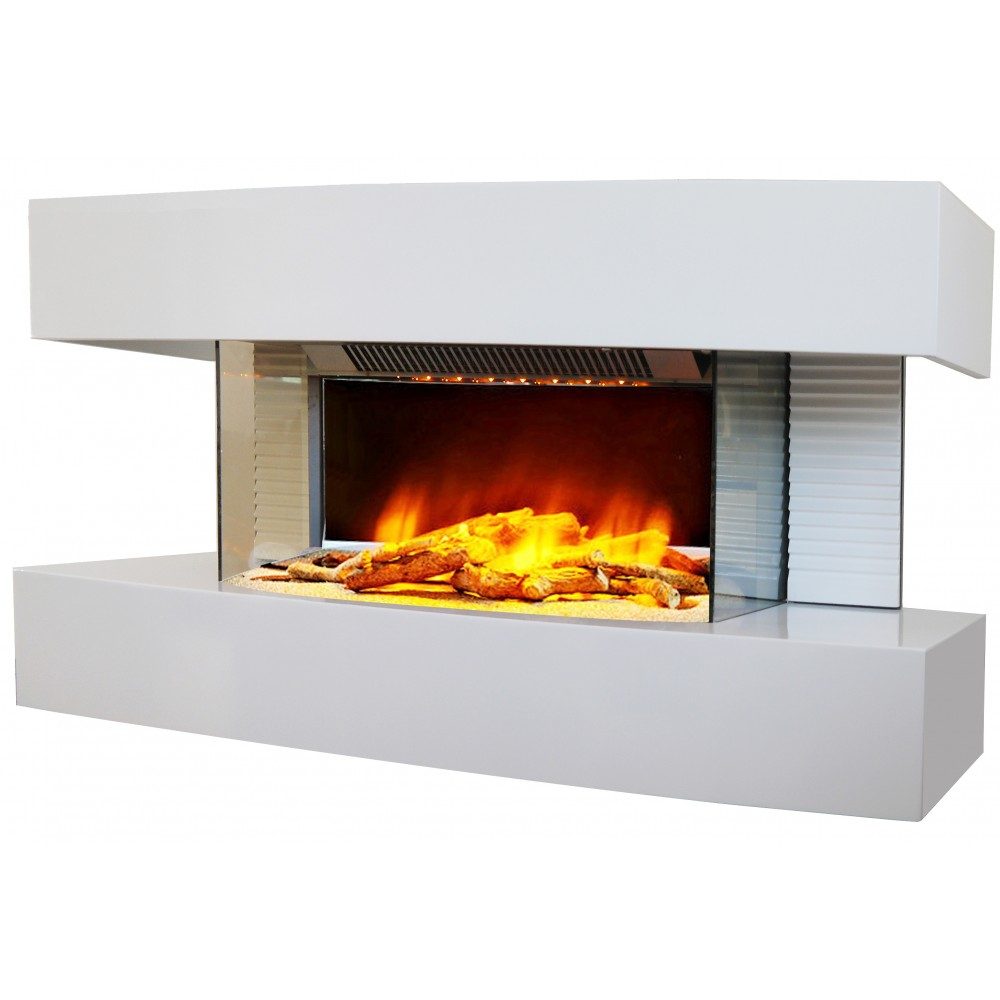 Cheminée Lounge Medium - Flamme 3D - Noire Ou Blanche intérieur Cheminée Electrique Pas Cher