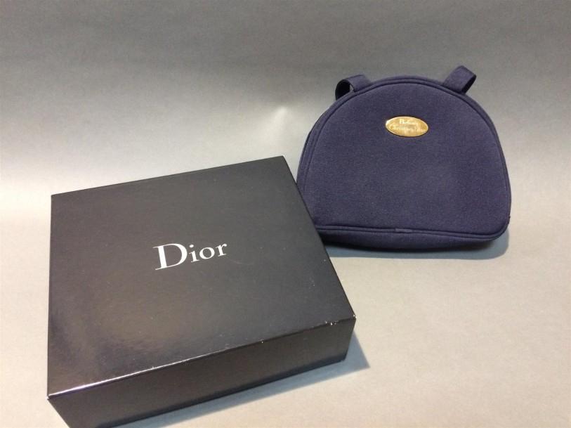 Christian Dior Parfum Trousse De Toilette En Tissu Bleu intérieur Trousse De Toilette Dior