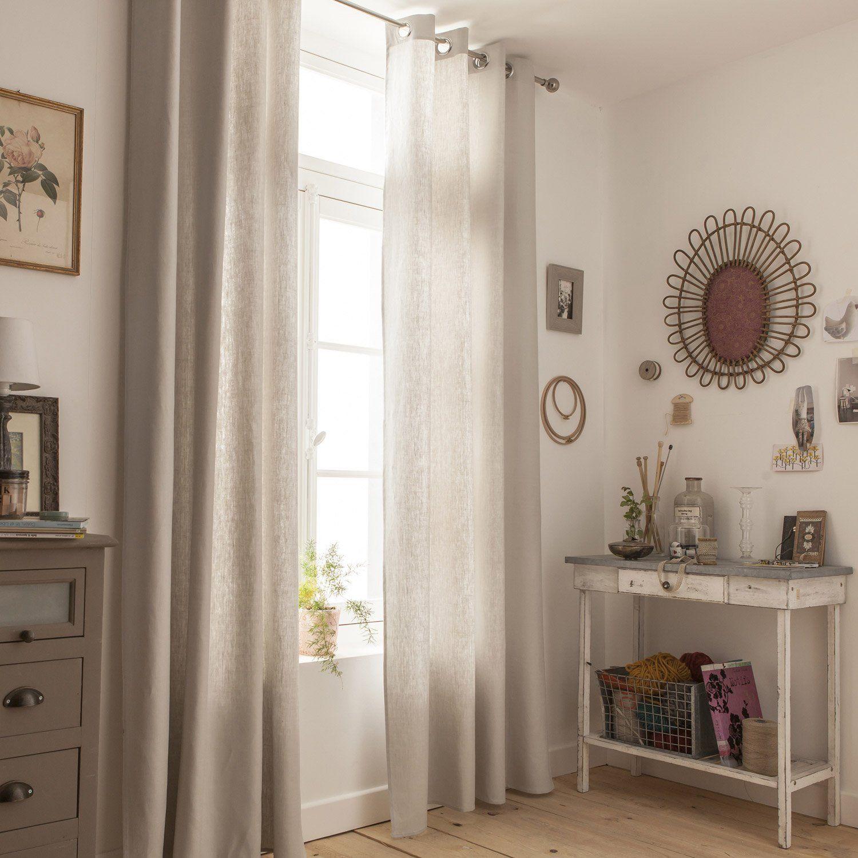 Couleur:gris … | Rideaux, Idée Chambre, Idée Déco Maison destiné Rideau Gris Argenté