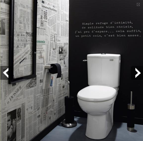 Couleurs Et Nuances: Le Blog Des Accros De La Déco!: Wc concernant Toilettes Noires