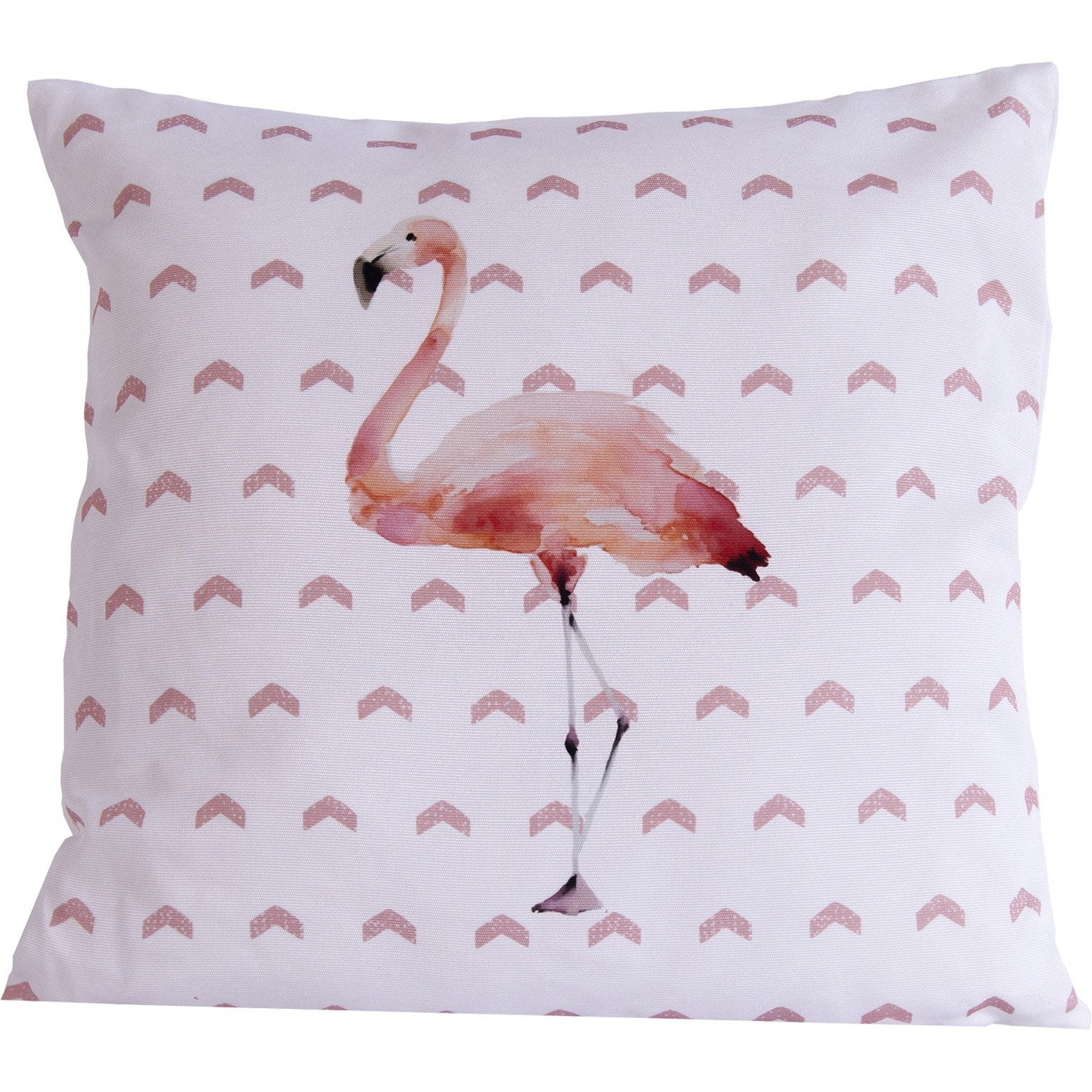 Coussin Pina Pinky Flamant, Rose L.40 X H.40 Cm   Leroy Merlin concernant Rideau Flamant Rose