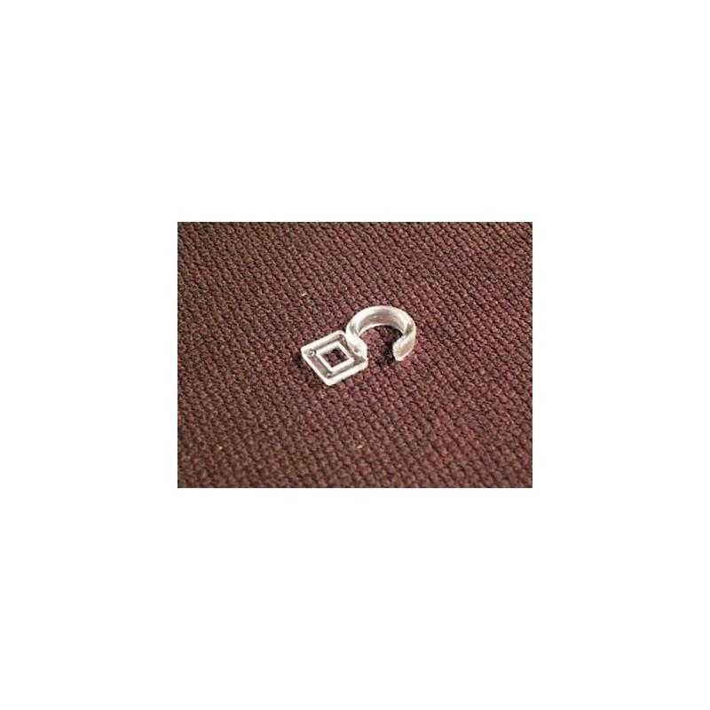 Crochet Plastique Transparent Anneau Rideau intérieur Rideau Plastique Transparent Pour Terrasse