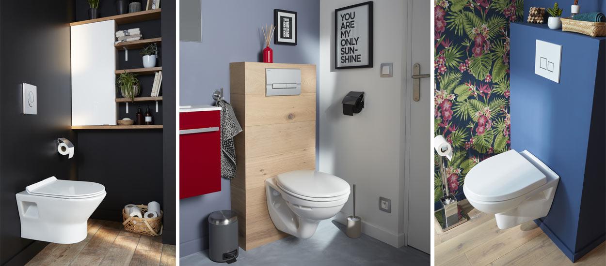 Déco : 7 Habillages Pour Des Toilettes Suspendues Originales à Toilettes Suspendus