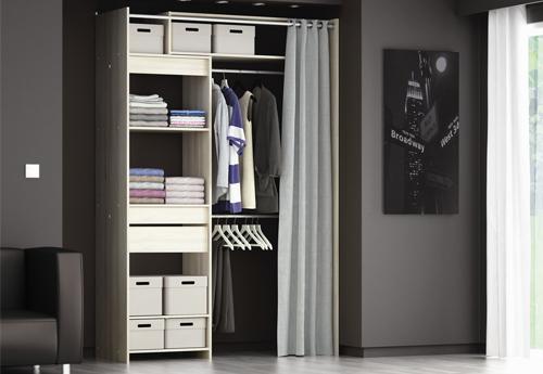 [Déco] Des Idées Pour Emménager Un Dressing Dans Une Chambre pour Rideau Dressing Leroy Merlin