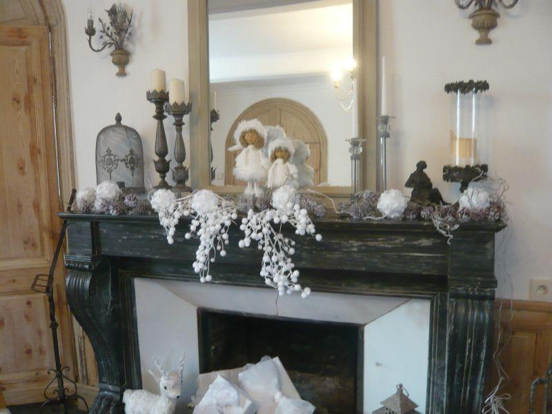 Decoration De Noel Dessus De Cheminee concernant Cheminée De Noel