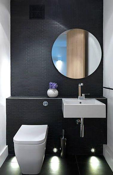Décoration Wc Carrelage Noir Wc Suspendu Lave-Main Blanc tout Toilette Noir Suspendu