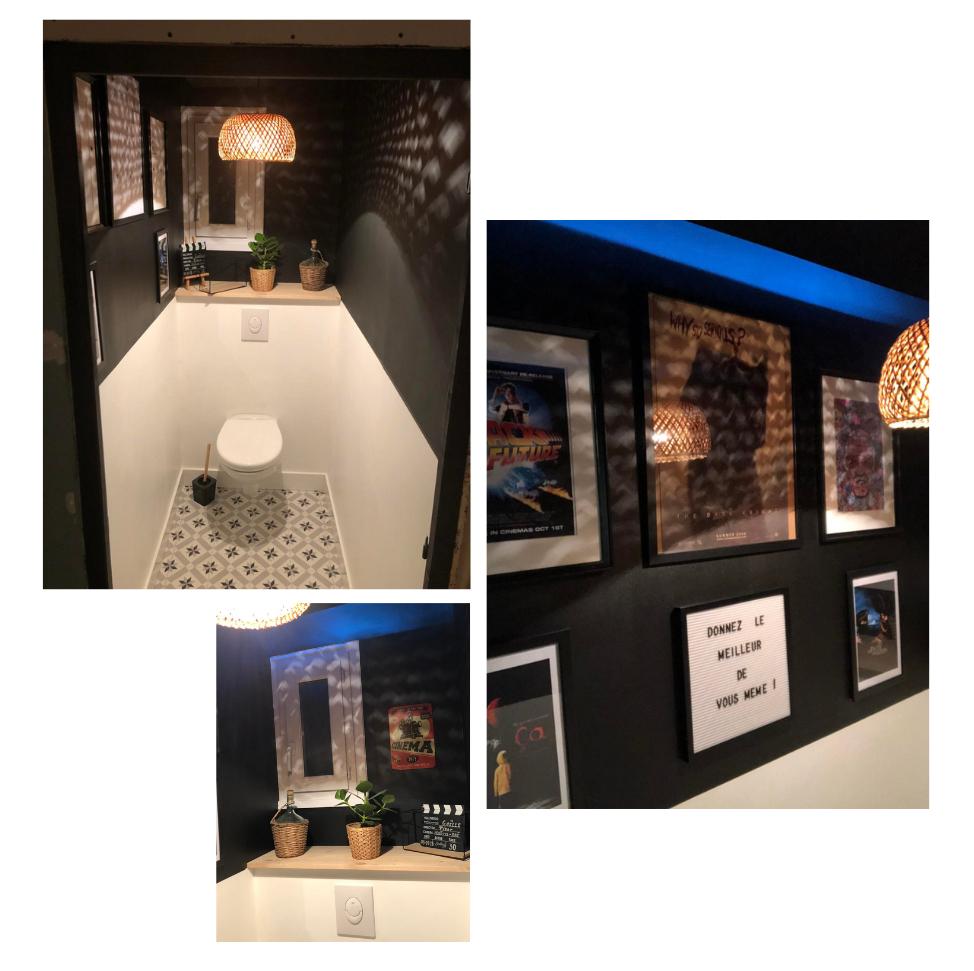 Décorer Ses Wc : 25 Idées Pour Vous Inspirer ! - Kozikaza intérieur Toilettes Noires