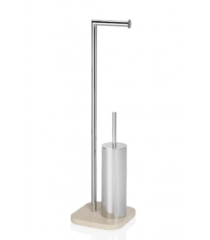 Dérouleur Papier Toilettes Et Porte Brosse Wc Marbre Et à Porte Papier Toilette Sur Pied