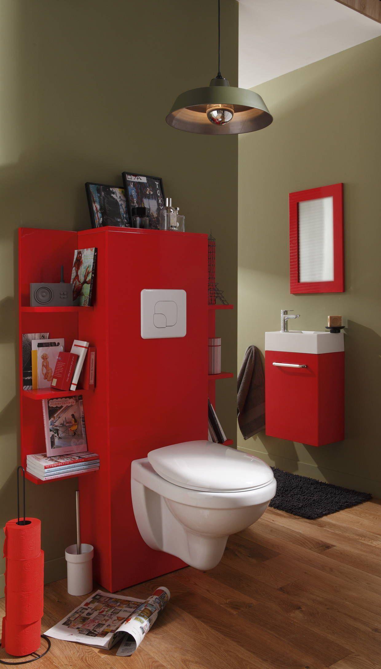 Des Rangements De Chaque Coté Du Wc Pour Optimiser Chaque pour Toilette Suspendu Leroy Merlin