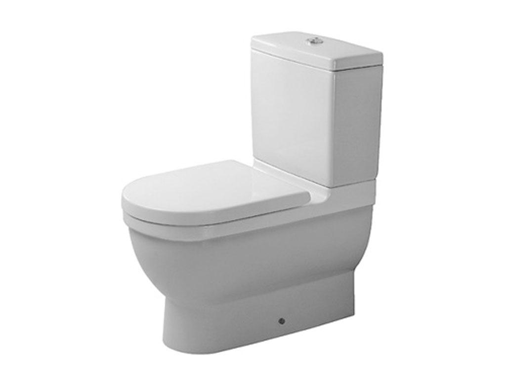 Duravit Starck 3 Vaso A Terra Monoblocco Filo Parete avec Toilette Starck