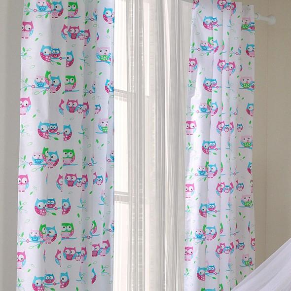ᐅ Voilage Chambre Bébé Blanc Avec Motif Hibou / Chouette pour Rideau Enfant Garcon