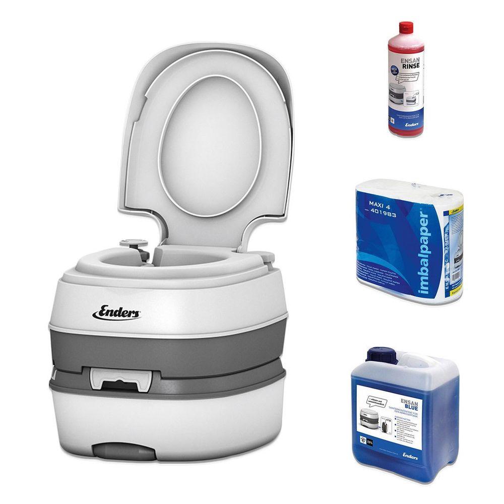 Enders Campingtoilette 4993 Deluxe Mobile Chemietoilette pour Toilettes Chimiques