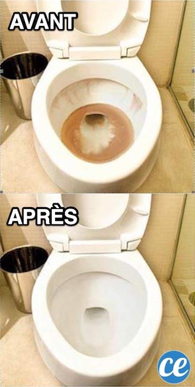 Épinglé Sur Maison : Astuces concernant Tartre Toilette