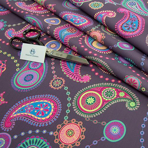 Ethnique Imprimé Numérique Recouvert De Tissu Résistant À destiné Rideau Indien