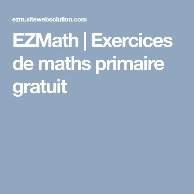 Ezmath   Exercices De Maths Primaire Gratuit (Avec Images concernant Calcul Du Chemin De Vie Gratuit