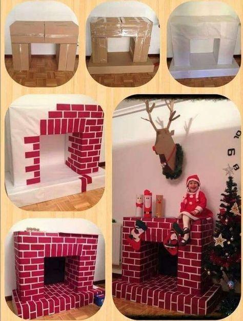 Faire Une Cheminée En Carton Pour Noël ! | Idee Deco Noel destiné Acheter Une Cheminée En Carton