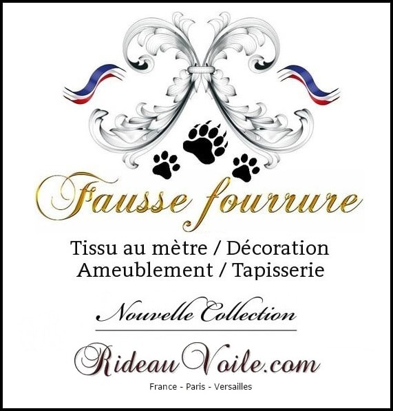 Fausse Imitation Fourrure Tissu Furr - Rideaux Et Tissus dedans Rideau Fourrure