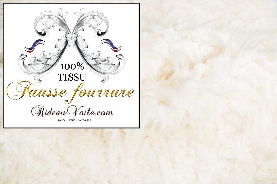Fausse Imitation Fourrure Tissu Furr - Rideaux Et Tissus encequiconcerne Rideau Fourrure