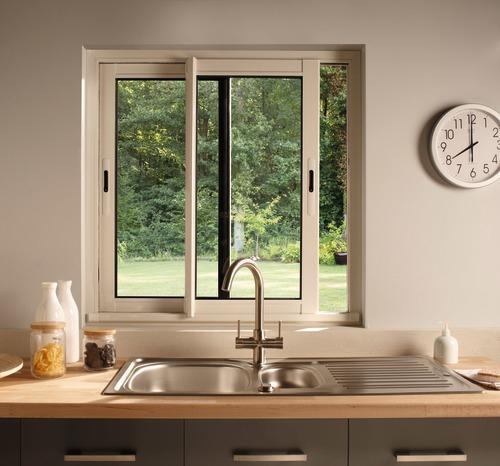 Fenêtre Coulissante En Aluminium Haute Isolation Blanc L intérieur Rideau Fenetre Aluminium