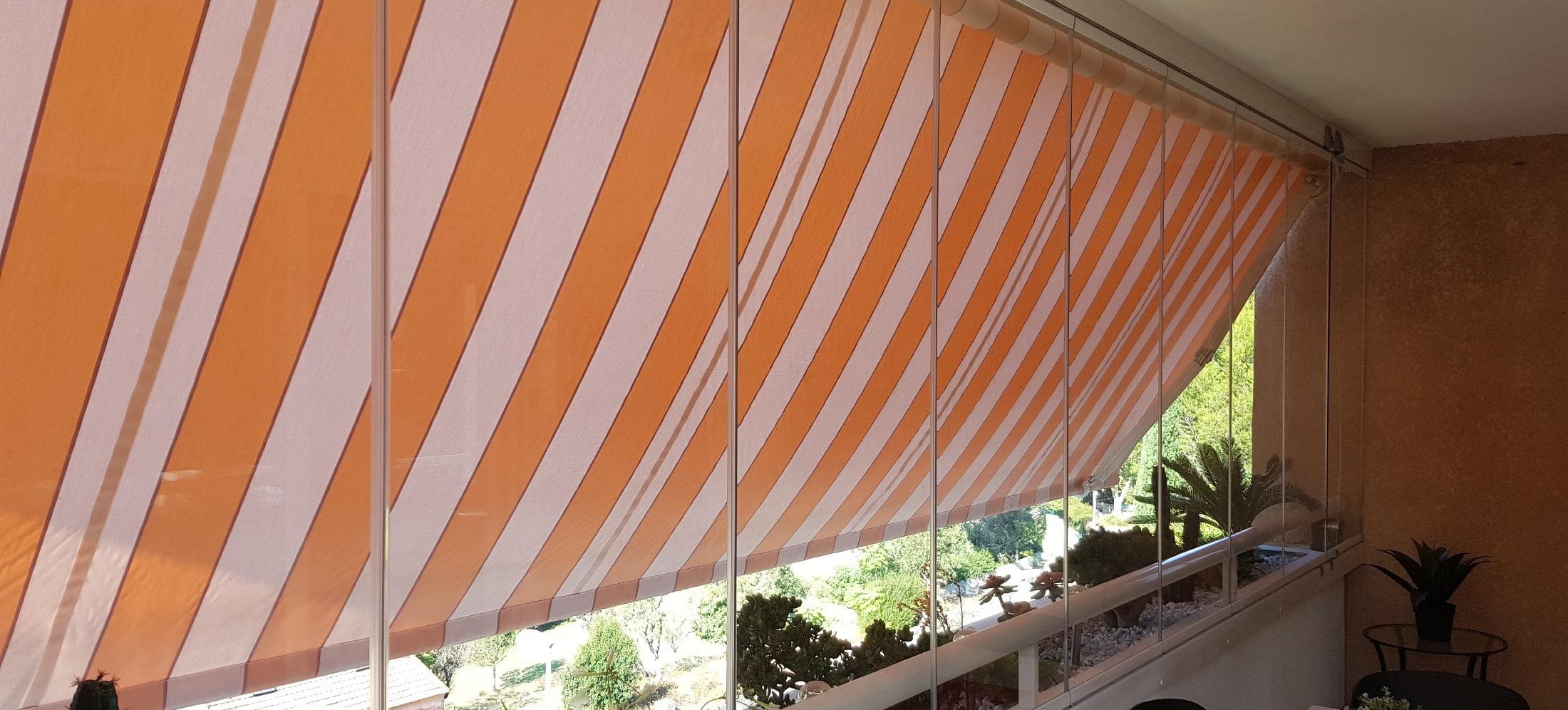 Fermeture De Balcon Par Un Rideau De Verre Résidence Le à Rideau De Verre Pour Balcon