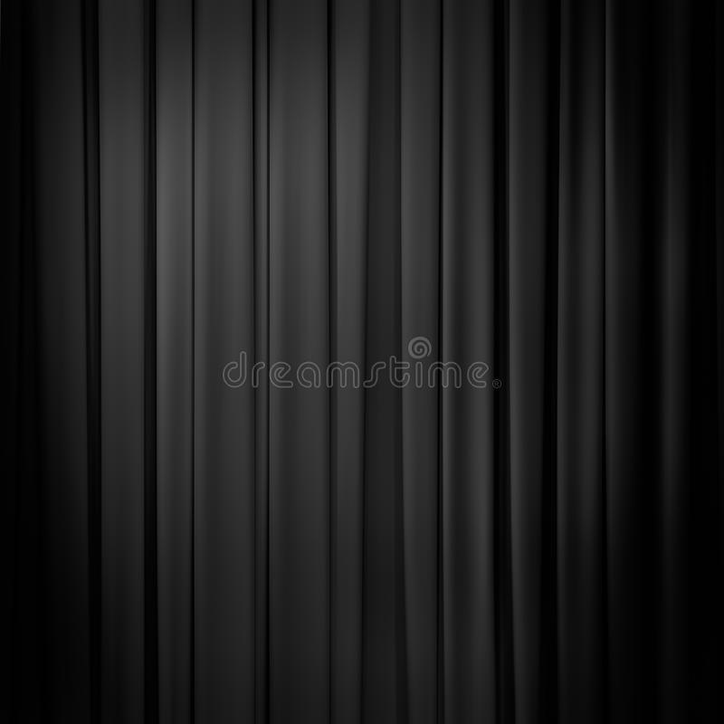 Fond Noir De Rideau Photo Stock. Image Du Intérieur, Foncé destiné Rideau De Scène Noir