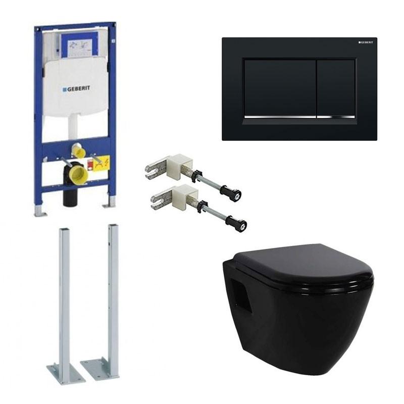 Geberit Pack Duofix Sigma Creavit Toilet Noir - Banio concernant Toilette Noir Suspendu