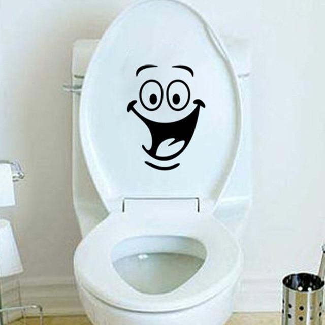 Grande Bouche Sourire Wc Autocollants Décorations Murales dedans Toilettes Bouchés