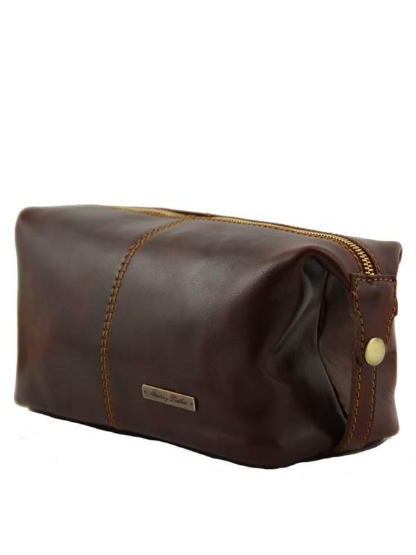 Grande Trousse De Toilette - Tuscany Leather concernant Trousse De Toilette Cuir Homme