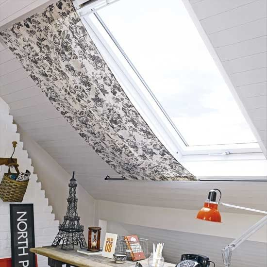Home Office With Roof Blind   Skylight Shade, Skylight pour Rideau De Velux