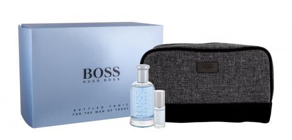 Hugo Boss Boss Bottled Tonic Edt 100 Ml + Edt Mini 8 Ml avec Trousse De Toilette Hugo Boss