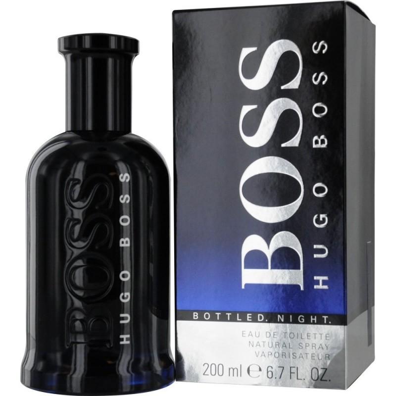 Hugo Boss Bottled Night Eau De Toilette 200 Ml Spray à Trousse De Toilette Hugo Boss