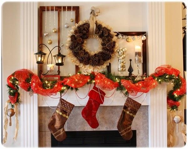Imagenes De Chimeneas Decoradas De Navidad dedans Cheminée De Noel